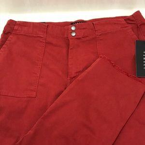 NWT Tinsel Acadia Red Frayed Hem Chino Pants